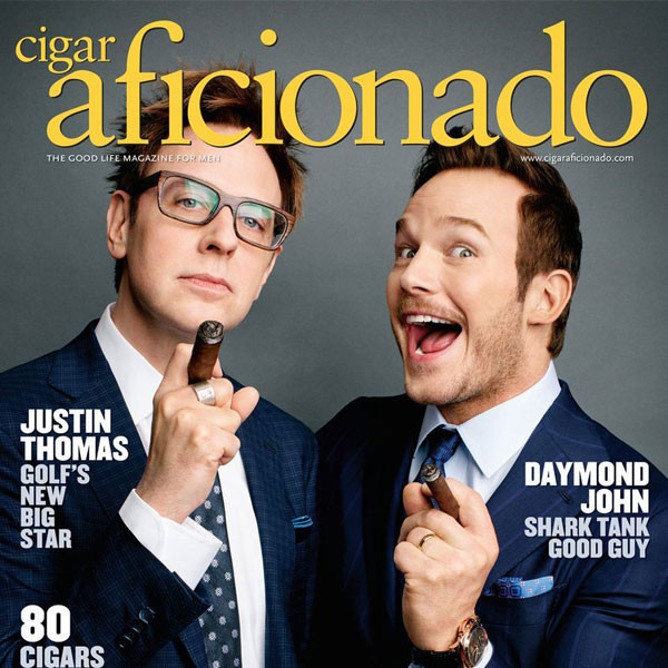 James Gunn, Chris Pratt, Cigar Aficionado
