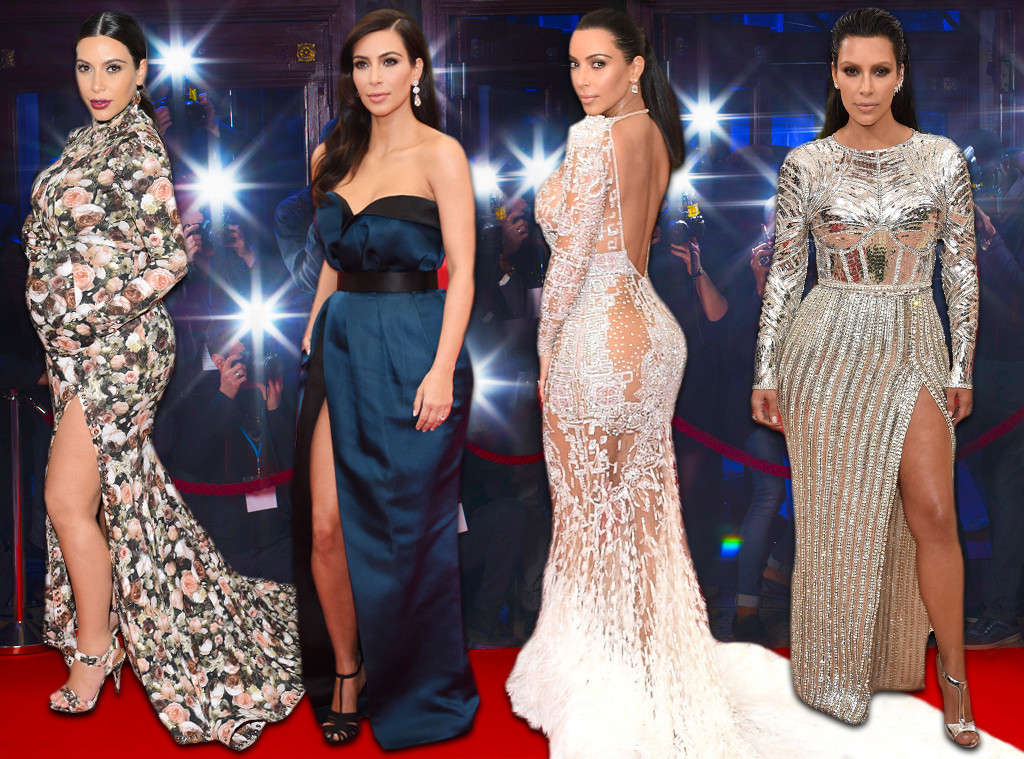 kim kardashians met gala looks through the years e news