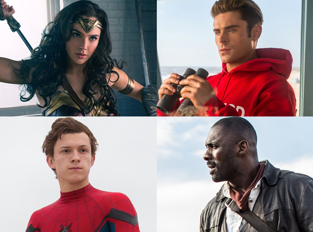 Wonder Woman, Dark Tower, Baywatch, Spider-man Homecoming