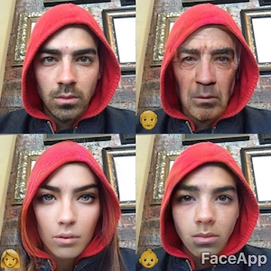 Celebs Play With FaceApp