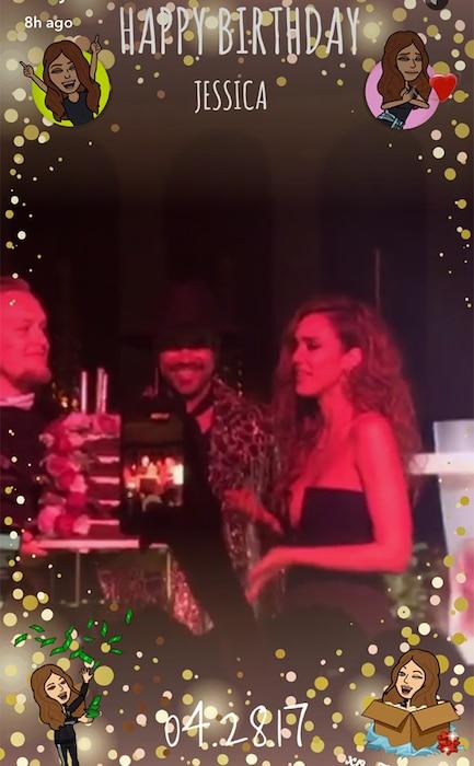 Jessica Alba, Birthday Party, Shay Mitchell, Snapchat