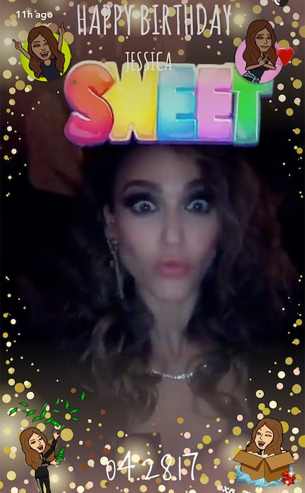 Jessica Alba, Birthday Party, Snapchat
