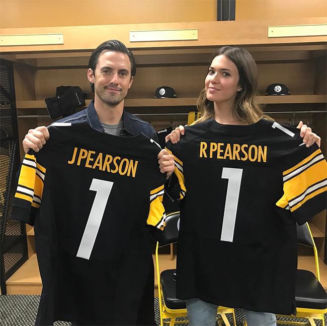 Milo Ventimiglia, Mandy Moore, This is Us, Pittsburgh Steelers