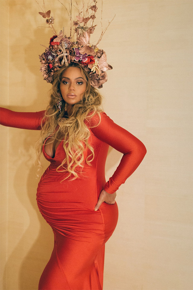 Beyonce, Pregnant, Red Dress