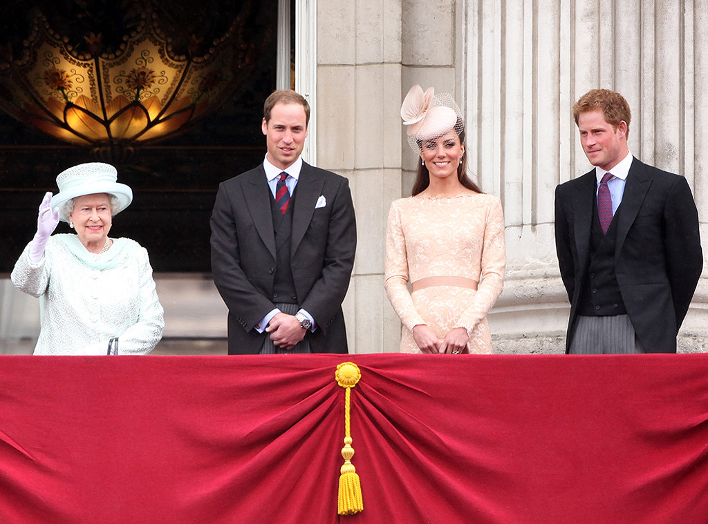 Queen Elizabeth II, Prince William, Kate Middleton, Prince Harry