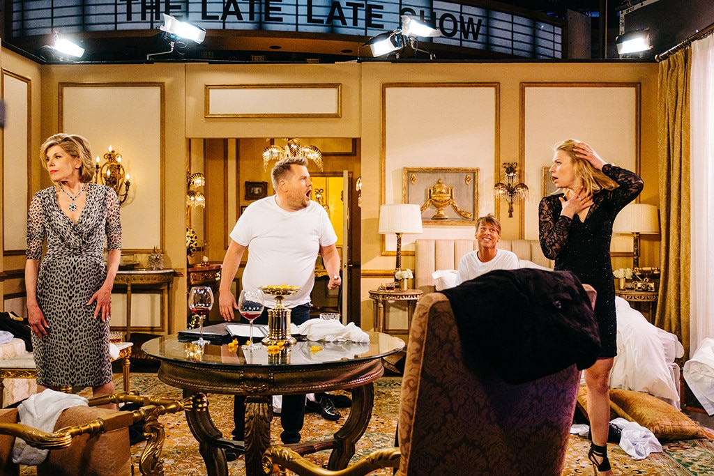 James Corden, Christine Baranski, Claire Danes, Jack McBrayer, The Late Late Show
