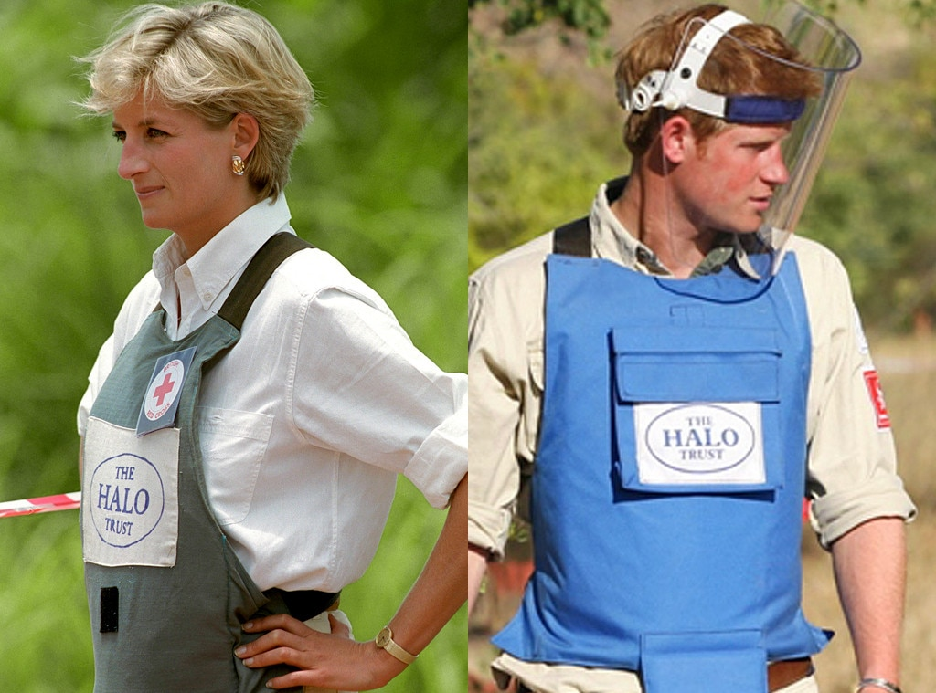 Princess Diana, Prince Harry, Angola