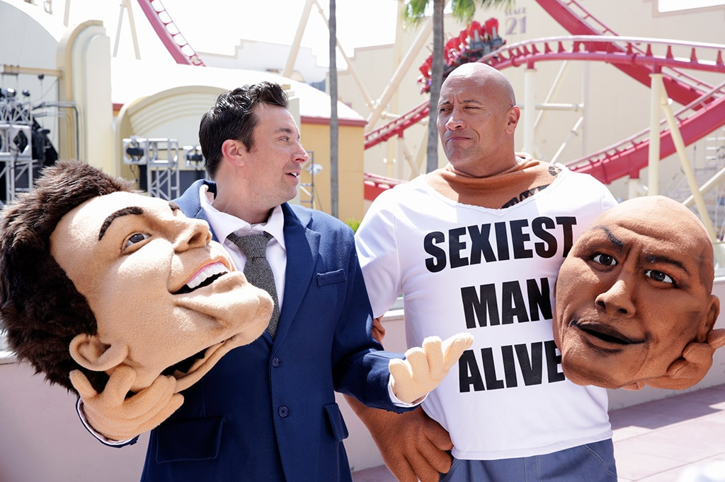 Jimmy Fallon, Dwayne Johnson, The Rock