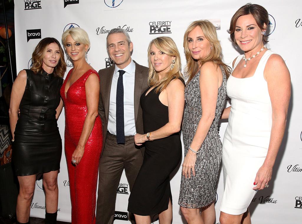Carole Radziwill, Dorinda Medley, Andy Cohen, Ramona Singer, Sonja Morgan, Luann D'Agostino, RHONY Premiere