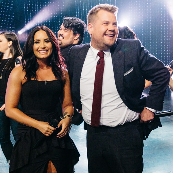 Demi Lovato, James Corden, The Late Late Show