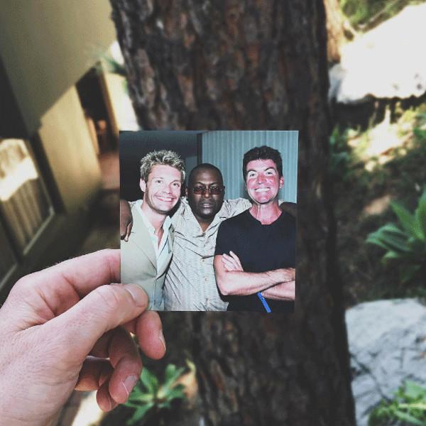 Ryan Seacrest, Randy Jackson, Simon Cowell, Instagram