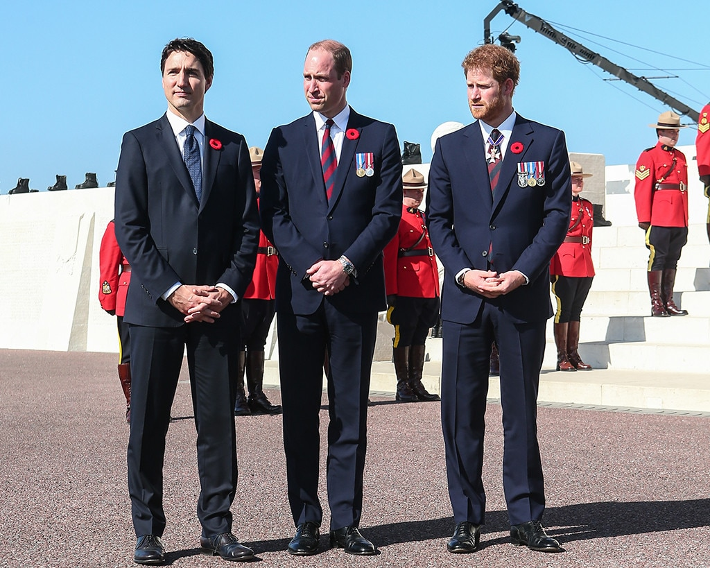 Prince William, Prince Harry, Justin Trudeau