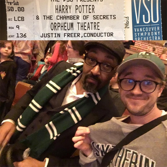 Tom Felton, Jesse L. Martin, Harry Potter Screening
