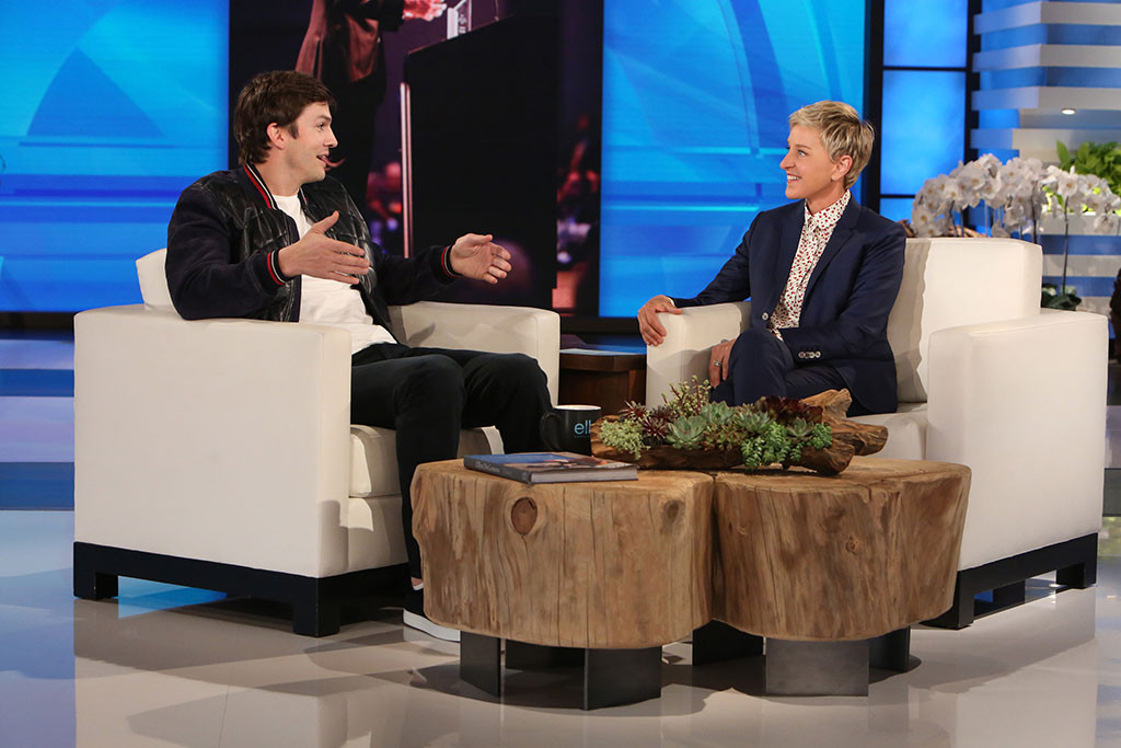 Ashton Kutcher, The Ellen DeGeneres Show