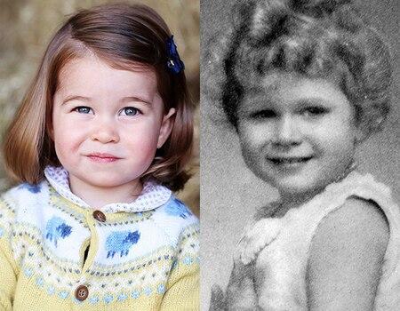 Does Princess Charlotte Look Like Queen Elizabeth Ii 39 S