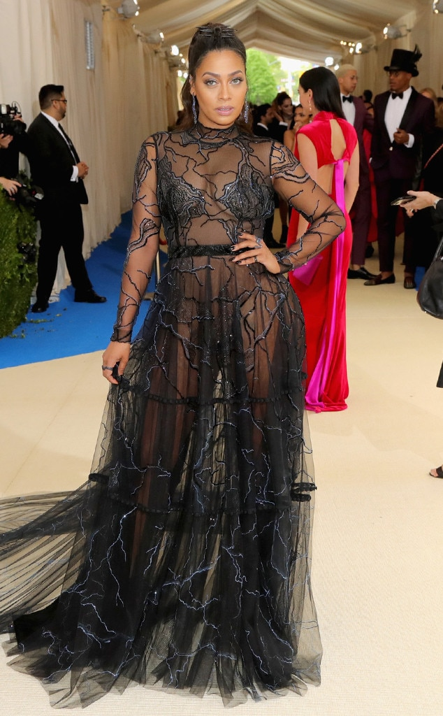 La La Anthony From 2017 Met Gala Red Carpet Arrivals E