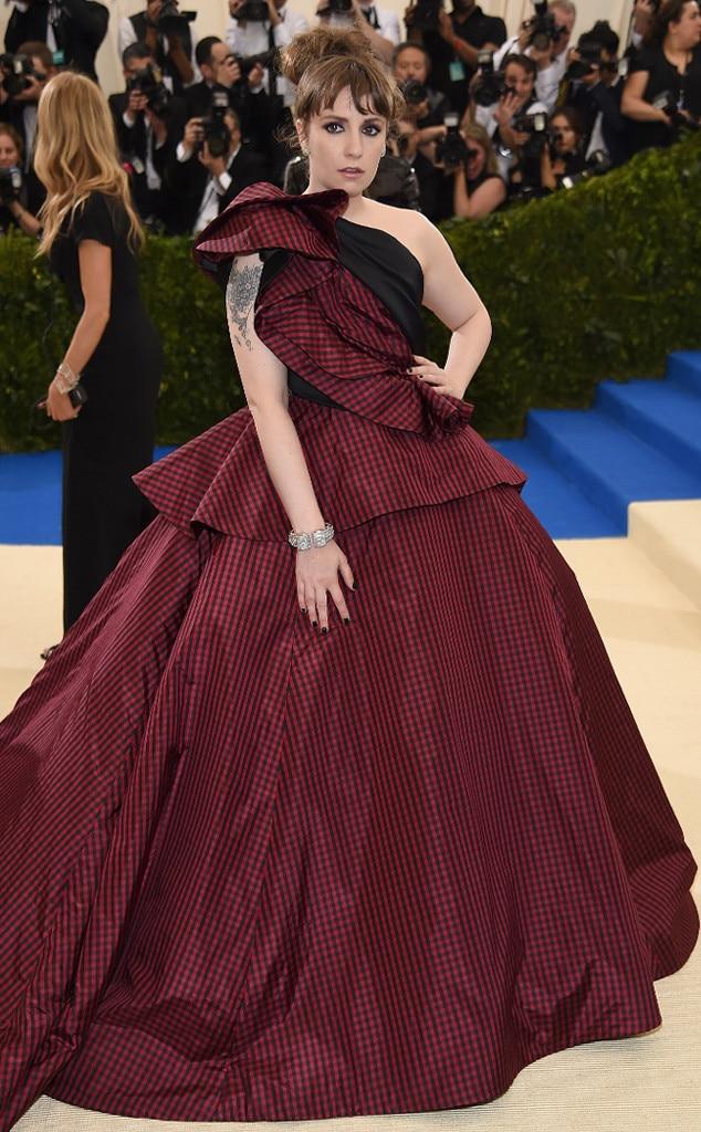 2017 Met Gala: Red Carpet Arrivals Lena Dunham, 2017 Met Gala Arrivals