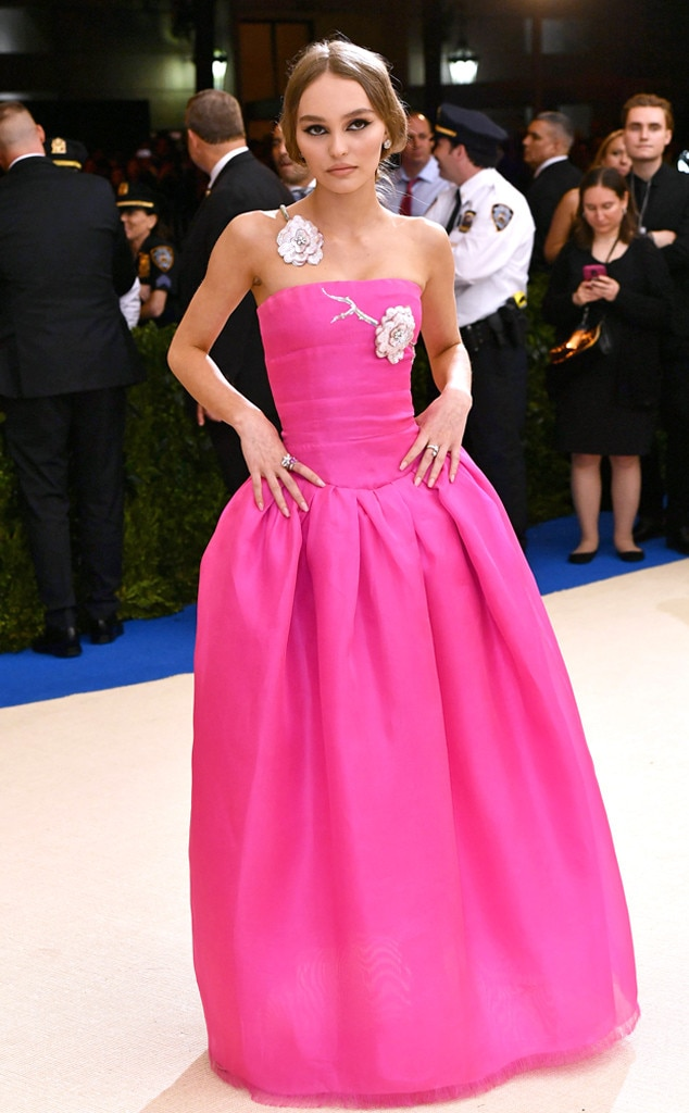 Lily rose depp from 2017 met gala red carpet arrivals e for Lily rose designer