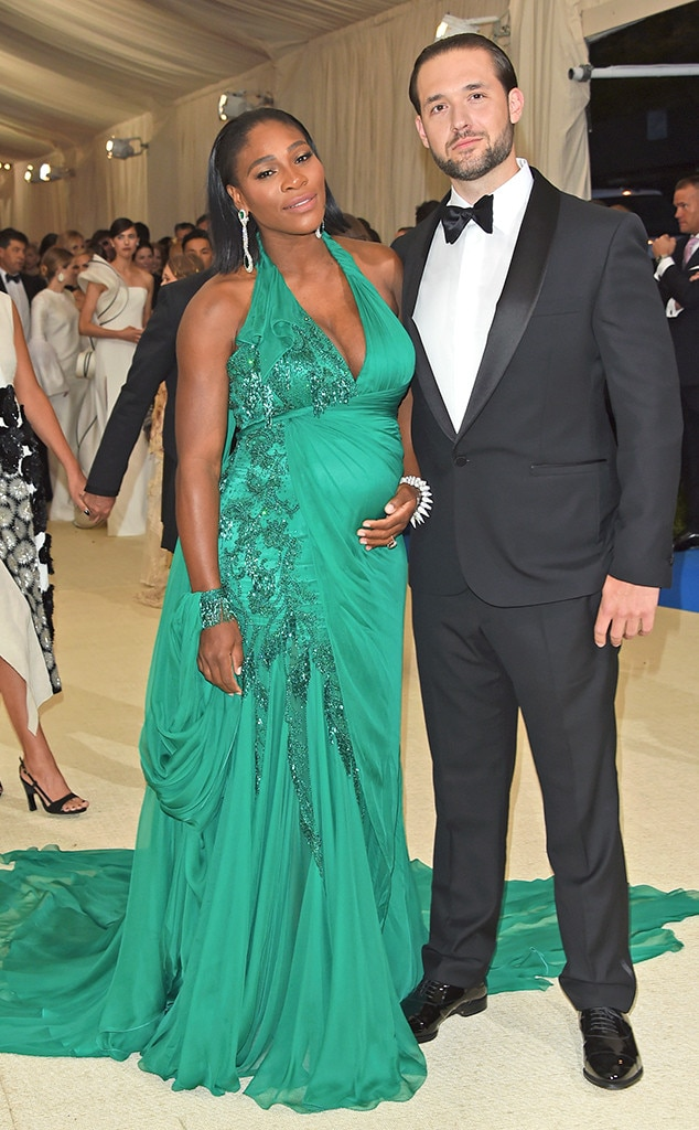 Serena Williams, Alexis Ohanian, 2017 Met Gala Arrivals