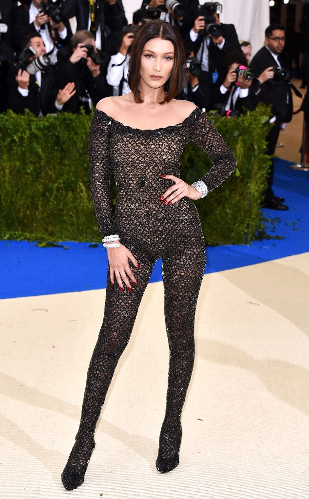 Bella Hadid From 2017 Met Gala Red Carpet Arrivals E News
