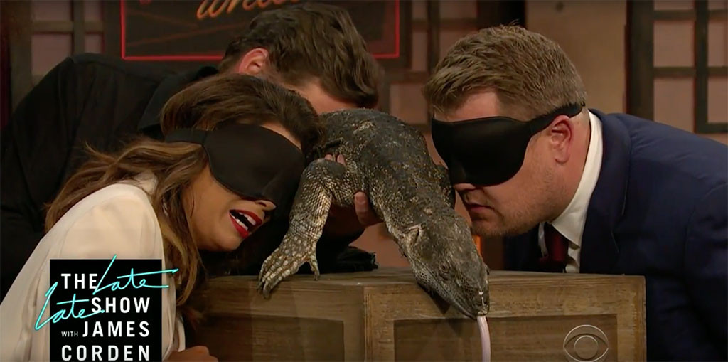 Eva Longoria, James Corden, Lizard