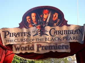 Billboard of Pirates of the Caribbean