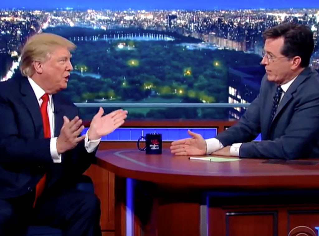 Donald Trump Talks President Obama's Birthplace on The Late Show with Stephen Colbert