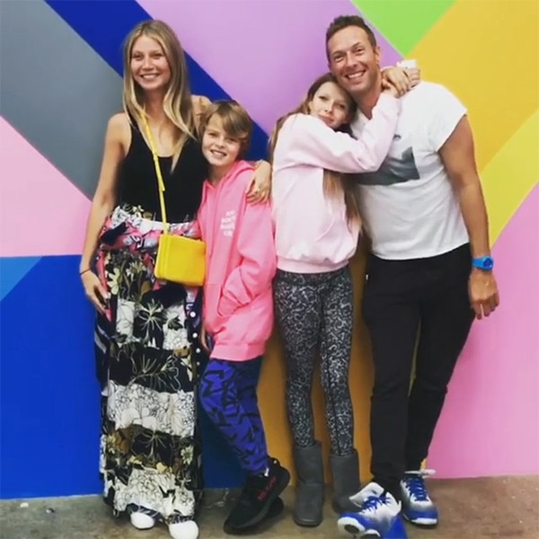 Gwyneth Paltrow, Ex Chris Martin & Kids Moses & Apple from ...