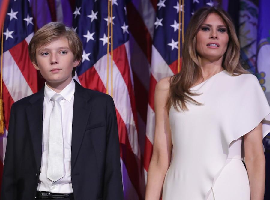 Barron Trump, Melania Trump