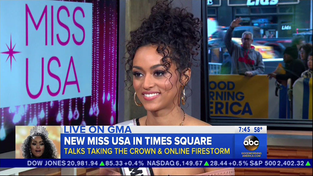 Kára McCullough, Miss USA 2017, Good Morning America
