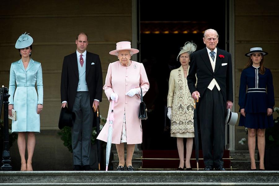 Kate Middleton, Prince William, Queen Elizabeth, Princess Anne, Prince Philip, Princess Beatrice, Royals