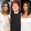 Selena Gomez, Ed Sheeran, Kim Kardashian