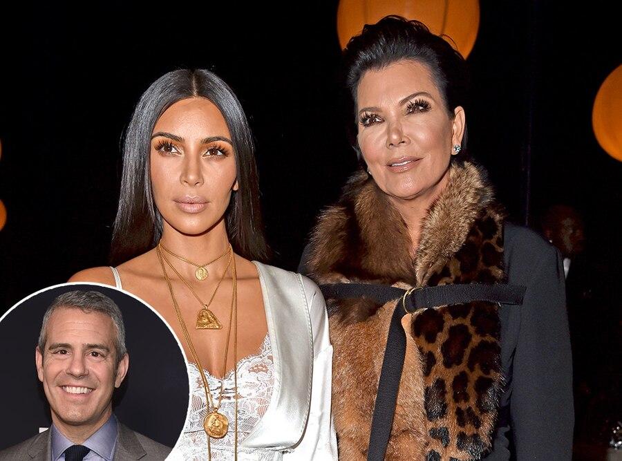 Kim Kardashian, Kris Jenner, Andy Cohen