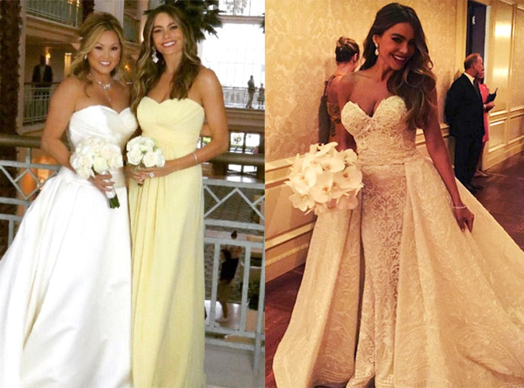 Sofia Vergara, Celebrities as Bridesmaids and Brides