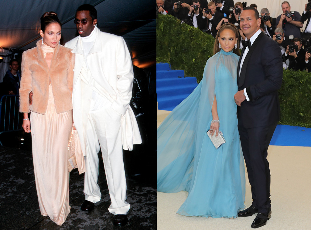 Jennifer Lopez, Sean Diddy Combs, Alex Rodriguez, MET Gala Then and Now