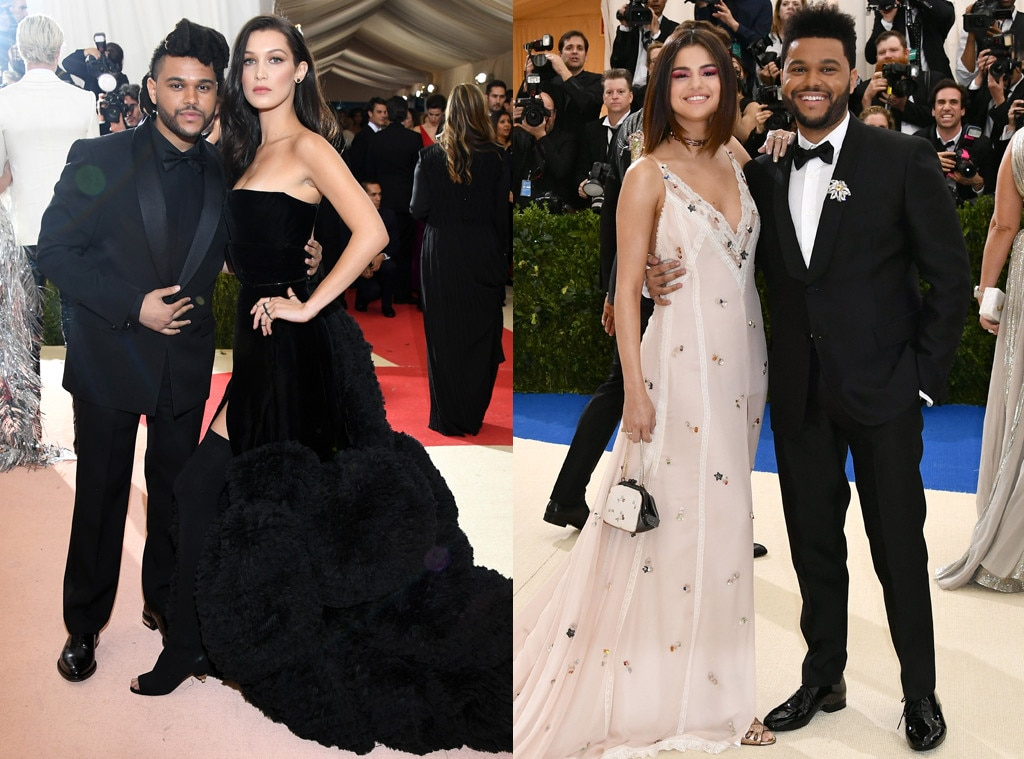 The Weeknd, Bella Hadid, Selena Gomez, MET Gala Then and Now