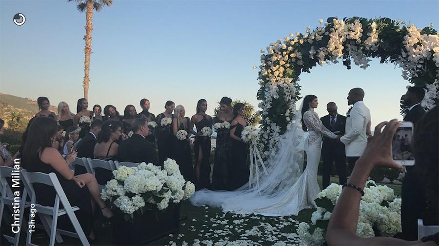 Nicole Williams, Larry English, Wags, Wedding