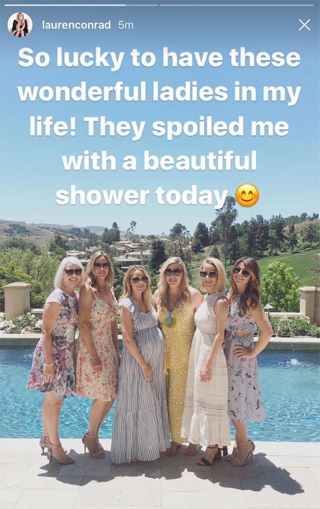 Lauren Conrad, Babyshower, Snapchat