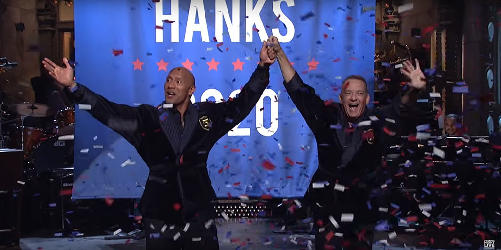 Dwayne Johnson, Tom Hanks, SNL