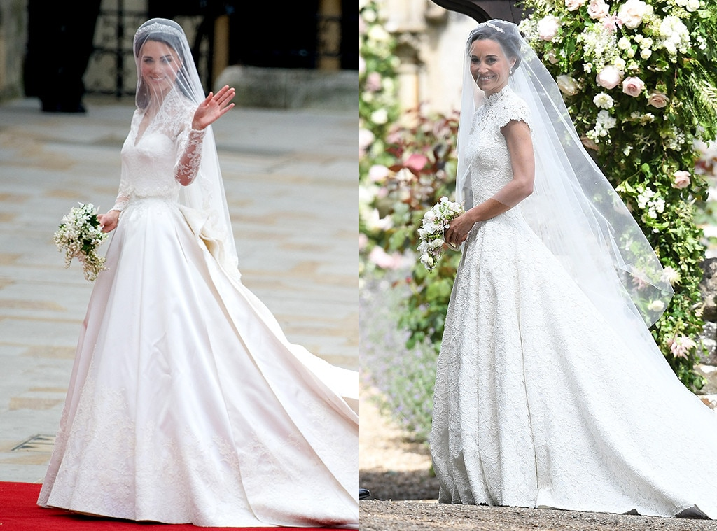 Pippa middleton 39 s wedding vs kate middleton 39 s wedding for Wedding dress like pippa middleton