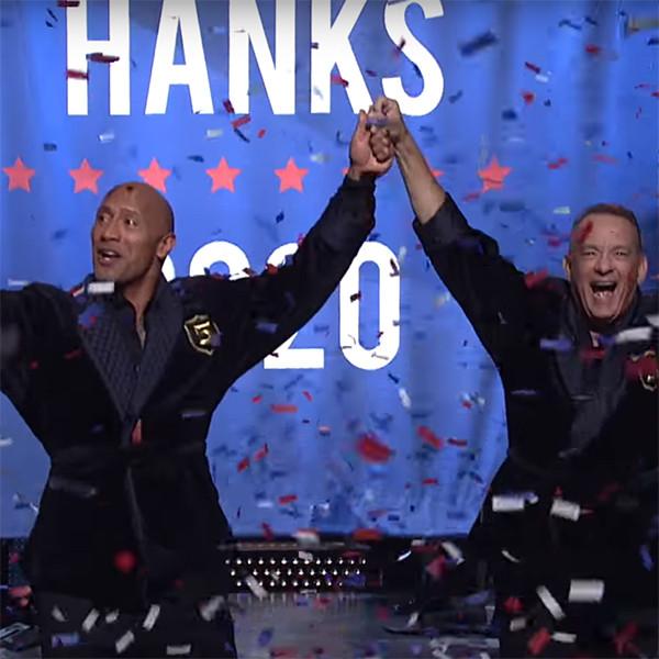 Dwayne Johnson, Tom Hanks, SNL