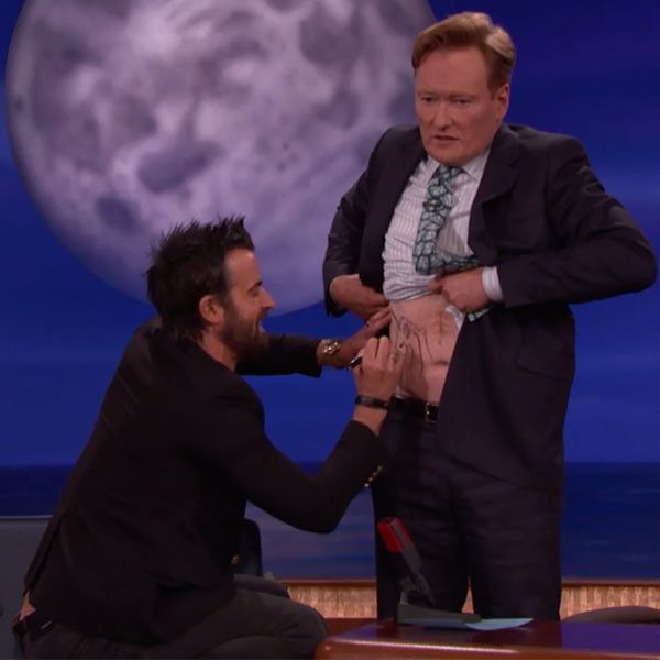 Justin Theroux, Conan O'Brien