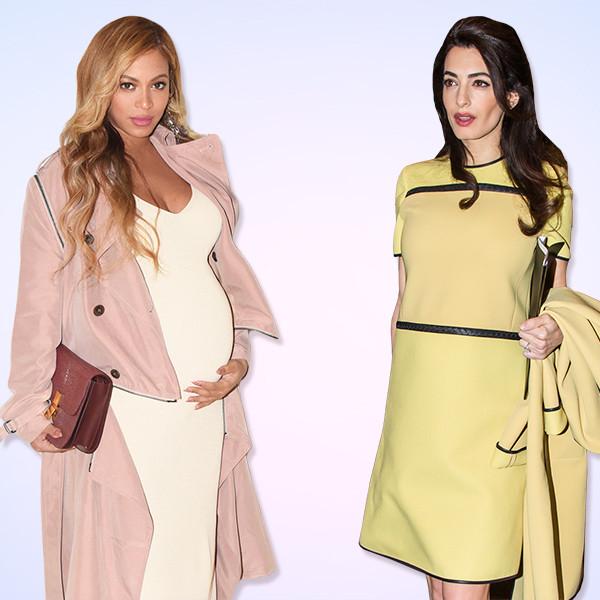 Beyonce, Amal Clooney, Pregnant