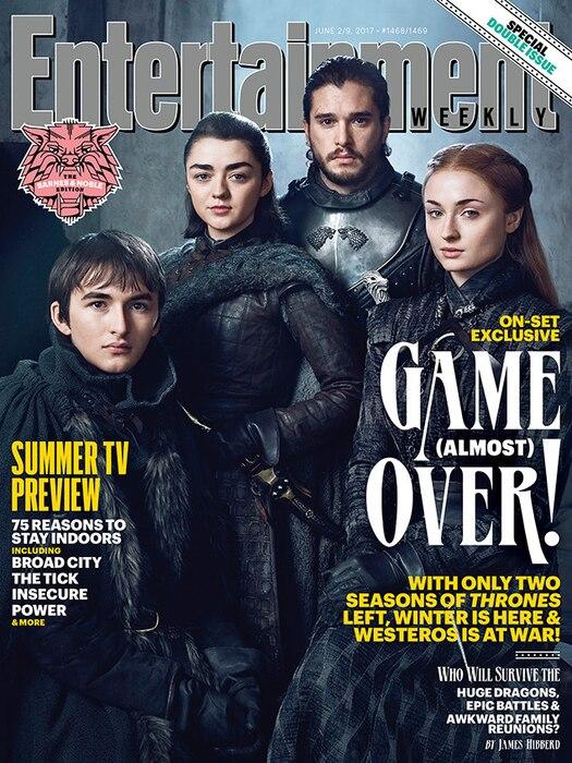 Kit Harington, Maisie Williams, Sophie Turner, Isaac Hempstead Wright, Game of Thrones, EW, Cover