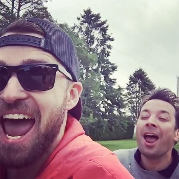 Justin Timberlake and Jimmy Fallon Celebrate Memorial Day by ''Bro-Biking'' Through the Hamptons