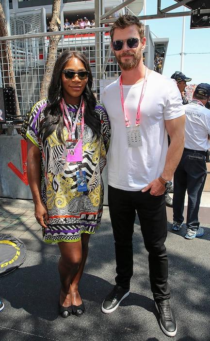 Serena Williams, Chris Hemsworth