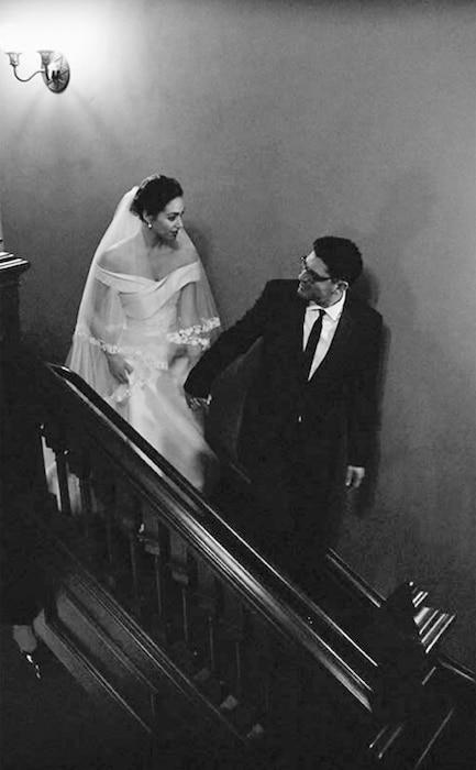 Sam Esmail, Emmy Rossum, Wedding
