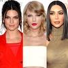 Kim Kardashian, Taylor Swift, Kendall Jenner