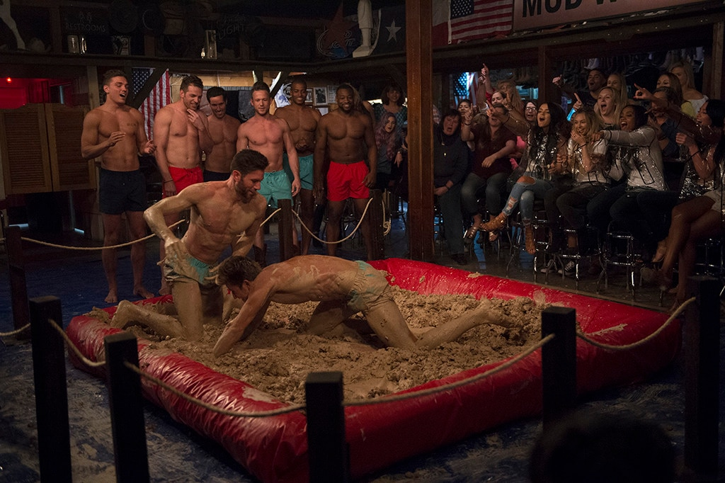 This Bachelorette Sneak Peek Has Shirtless Guys Mud Wrestling And That's All You Need To Know