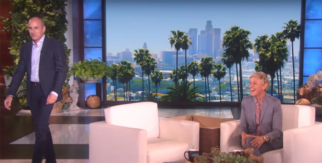 Matt Lauer, The Ellen DeGeneres Show